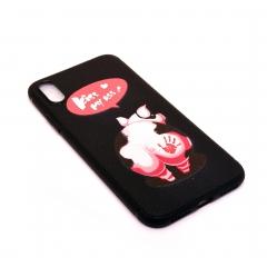 Чехол для iPhone X DLED Свинка Kiss My Ass