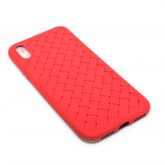 Чехол для iPhone X DLED Плетеный красный