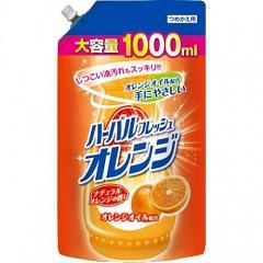 Mitsuei Средство для мытья посуды, овощей и фруктов с ароматом апельсина (рефил) 1000мл