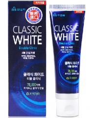 Mukunghwa Classic White Отбеливающая зубная паста двойного действия с микрогранулами (Мята) 110г