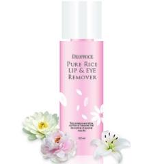 Deoproce Pure Rice Lip & Eye Remover Средство для снятия макияжа на рисовой воде 100мл