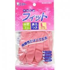 ST Резиновые перчатки с внутренним покрытием, L , розовые 1 пара