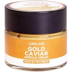 Lebelage Ampule Cream Gold Caviar Ампульный крем с экстрактом икры 70мл