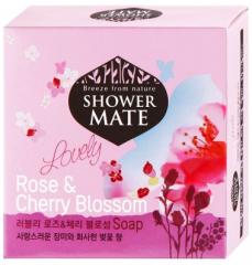 Kerasys Shower Mate Косметическое мыло (Роза и вишневый цвет) 100г
