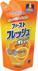Daiichi Fresh Orange Гель для мытья посуды, овощей и фруктов с ароматом апельсина (рефил) 500мл