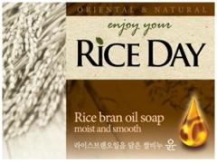"""CJ Lion Rice Day Мыло-скраб для тела """"Рисовые отруби"""" 100г"""