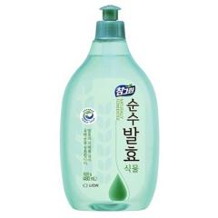 CJ Lion Chamgreen Pure Fermentation Средство для мытья посуды, овощей и фруктов - горные травы 480мл