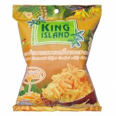King Island  Кокосовые чипсы с карамелью 40г