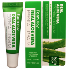 Farmstay Real Аloe Vera Essential Lip Balm Суперувлажняющий бальзам для губ с алоэ 10мл