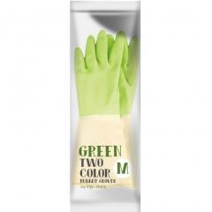 Myungjin Rubber Glove Two Tone Перчатки латексные хозяйственные 1пара