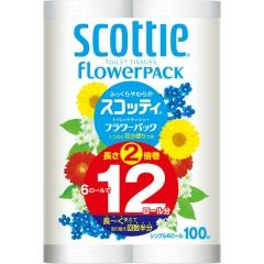 Nepia Scottie Flowerpack Однослойная туалетная бумага 6шт