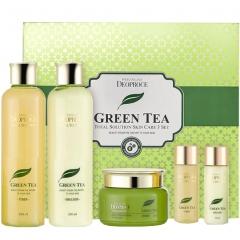 Deoproce Premium Greentea Total Solution 3 Set Набор для лица с зеленым чаем 260мл*260мл*100мл