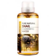 Farmstay Pure Natural Snail Cleansing Water Очищающая вода с муцином улитки 500мл