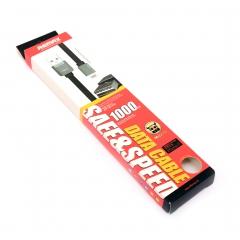 Кабель Remax Safe&Speed белый 1м Lightning для iPhone 6/Plus/5/5s/5c