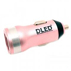 Зарядное устройство в салон авто Dled Pink Style