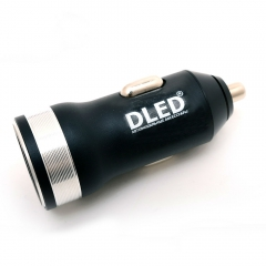 Зарядное устройство в салон авто Dled Silver Style