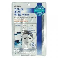 Mijin Junico Crystal All-in-one Facial Mask Collagen Маска тканевая c коллагеном 25г