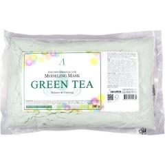 Anskin Green Tea Modeling Mask Успокаивающая альгинатная маска с зеленым чаем (рефил) 240г