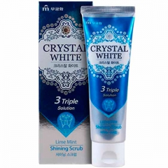 Mukunghwa Crystal White Отбеливающая зубная паста с ароматом лайма и мяты 110г