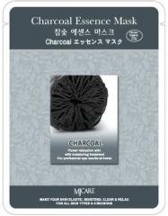 Mijin Charcoal Essence Mask Тканевая маска с древесным углем для очищения и сужения пор 23г