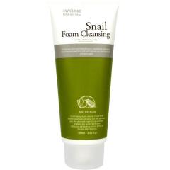 3W Clinic Snail Foam Cleansing Пенка для умывания с улиточной слизью 100мл