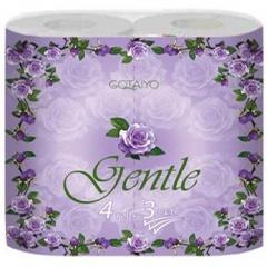 "Gotaiyo Gentle Трехслойная туалетная бумага с ароматом ""Европы"" 4шт"