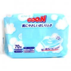 Goon Влажные салфетки для малышей с 0 мес с экстрактами риса, ромашки и водорослей 70шт