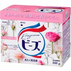 KAO New Fragrance Beads Стиральный порошок с кондиционирующим эффектом (аромат розы) 800г