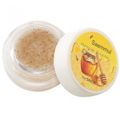 The Saem Saemmul Honey Lip Scrub Pot Медовый скраб для губ с коричневым сахаром и маслом ши 7г