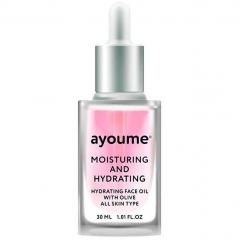 Ayoume Moisturing-&-Hydrating Face Oil With Olive Сыворотка для лица увлажняющая 30мл