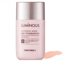 Tony Moly Luminous Goddess Aura Silk Foundation Тональная основа 45мл