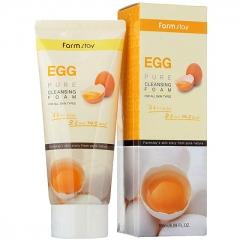 Farmstay Egg Pure Cleansing Foam Очищающая пенка с яичным экстрактом 180мл