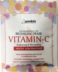 Anskin Vitamin-C Modeling Mask Увлажняющая альгинатная маска с витамином С (саше) 25г