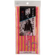 Kokubo Женская массажная мочалка с акриловыми волокнами 20х110см (мягкая) 1шт