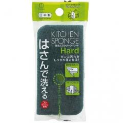 Kokubo Губка кухонная жесткая с разрезом для удаления стойких загрязнений 170х75х35мм