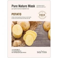Anskin Secriss Pure Nature Mask Pack Potato Тканевая маска для лица с экстрактом картофеля 25мл