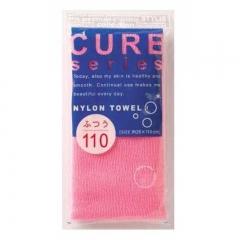 Ohe Corporation Cure Nylon Towel Hard Pink Мочалка для тела 28х110см (жесткая) 1шт