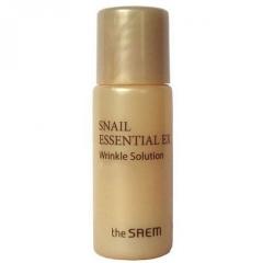 The Saem Snail Essential EX Wrinkle Solution Toner Антивозрастной улиточный тонер (миниатюра) 5мл