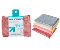 Sungbo Save Scrubber Набор губок для мытья посуды (13х9х1,5) 4шт