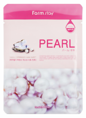 Farmstay Visible Difference Mask Sheet Pearl Тканевая маска для лица с экстрактом жемчуга 23мл