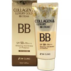 3W Clinic Collagen & Luxury Gold BB Cream ББ-крем с коллагеном и коллоидным золотом SPF50+ 50мл
