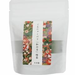 Yamamoto Спонж конняку для умывания лица с экстрактом зеленого чая 1шт