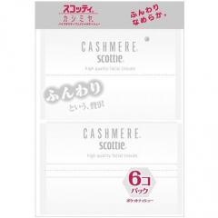 Nepia Scottie Cashmere Crecia Бумажные платочки двухслойные 6уп по 10шт