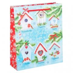 GiftPack Домики счастья Пакет ламинат вертикальный, 23х27х8см