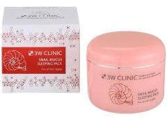 3W Clinic Snail Mucus Sleeping Pack Улиточная ночная маска 100мл