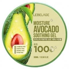 Lebelage Moisture Avocado 100% Soothing Gel Увлажняющий смягчающий гель с авокадо 300мл