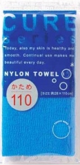 Ohe Corporation Cure Nylon Towel Hard Blue Мочалка для тела 28х110см (жесткая) 1шт