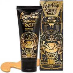 Elizavecca Hell-Pore Longolongo Gronique Gold Mask Pack Золотая маска с пептидами 100мл