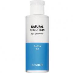 The Saem Natural Condition Sparkling Lip & Eye Remover Средство для снятия макияжа 155мл