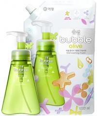 Kerasys Soonsaem Bubble Olive Пенка для мытья посуды на основе растительных компонентов (рефил) 1л